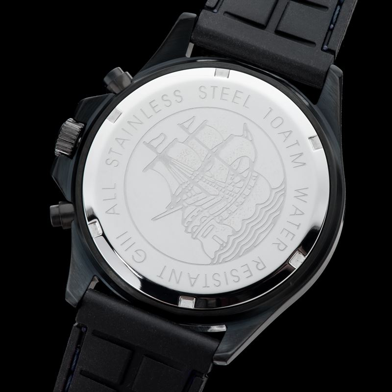 Gigandet volante herrenuhr chronograph edelstahl schwarz for Fenetre volante